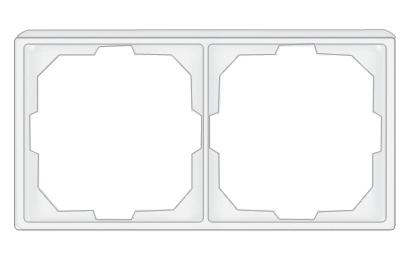 Vilma ST 150 rėmelis 2 vietų. Yra baltos ir smėlio spalvos.