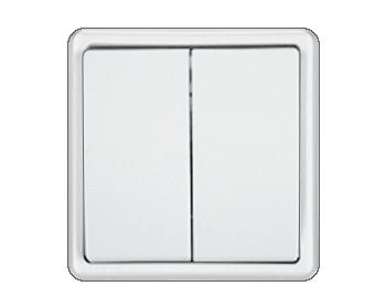Vilma ST 150 jungiklis 2 kl. Yra baltos ir smėlio spalvos. Be rėmelio.